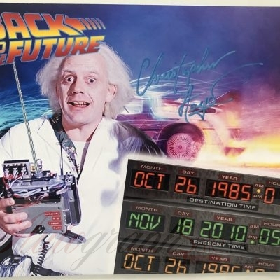 Christopher Lloyd signed Photo 8×10 Back to the Future