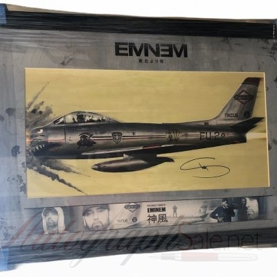 Eminem Autographed Kamikaze Lithograph signed Slim Shady