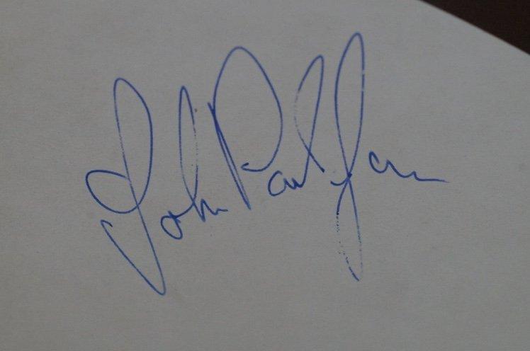 John Paul Jones autograph