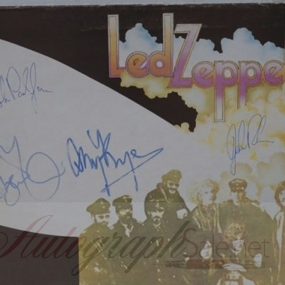 Led Zeppelin fully signed Led Zep II Album Autographed