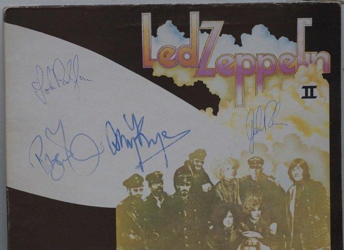 Led Zeppelin fully signed Led Zep II Album Autographed