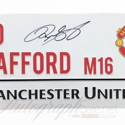 Ryan Giggs signed Old Trafford Street Sign Manchester United