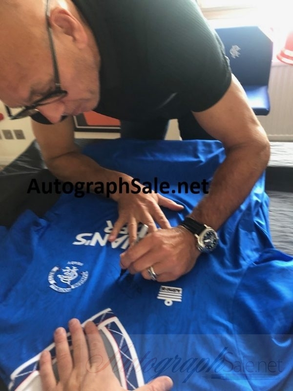 Mark Hateley Autographed Admiral Rangers Home Football shirt 90-92
