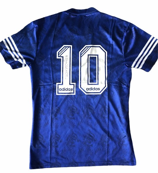 Mark Hateley signed Rangers FC Football shirt 94-96