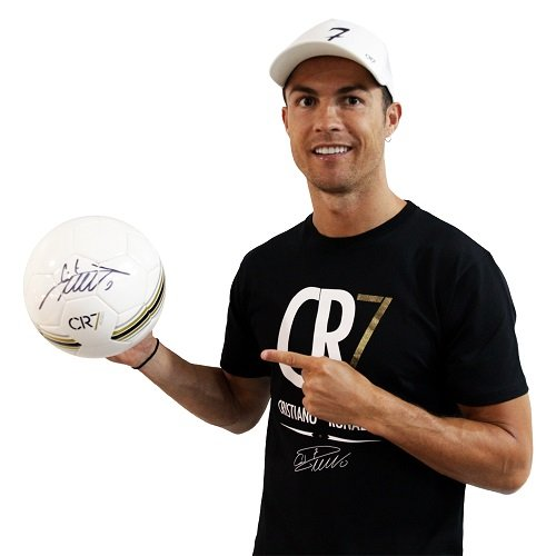 Cristiano Ronaldo signed football white museum CR7 Autograph