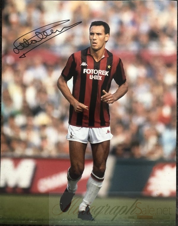 Mark Hateley Ac Milan signed photograph Attila