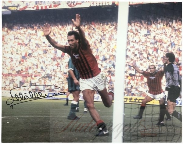 Mark Hateley Attila autograph photo AC Milan
