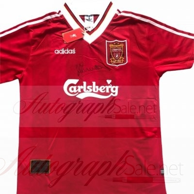 Michael Owen Autograph Liverpool 95 96 home shirt