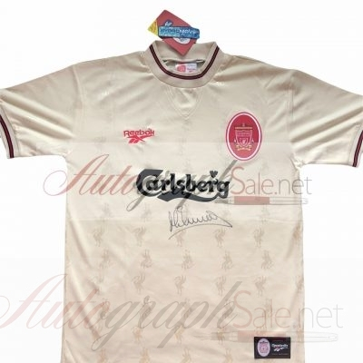 Michael Owen Autographed Liverpool 96 97 away shirt