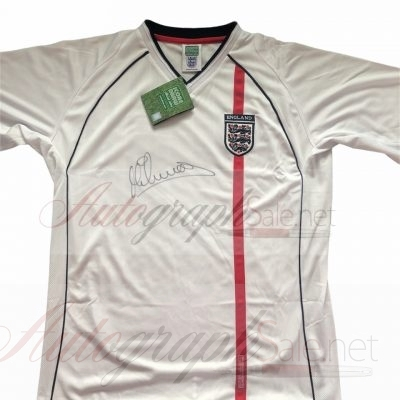 Michael Owen Signed England retro shirt 2002 authentic autograph