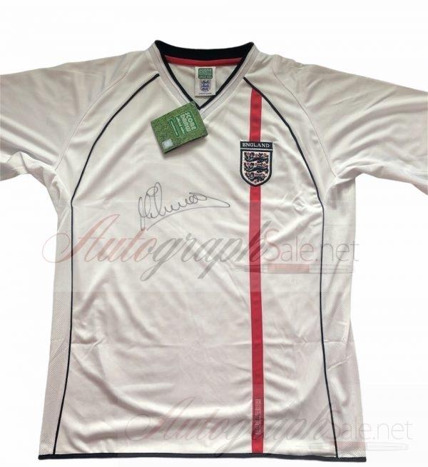 Michael Owen Signed England retro shirt 2002 authentic autograph
