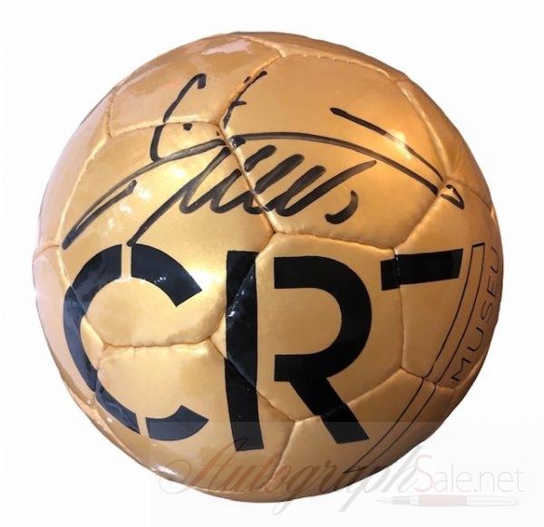Ronaldo signed football gold museum authentic CR7