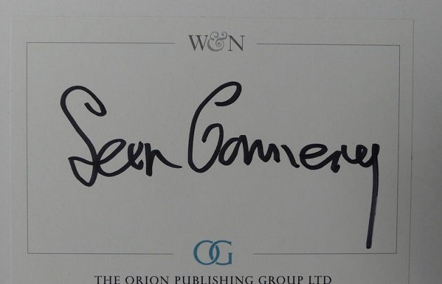 Sean Connery autograph