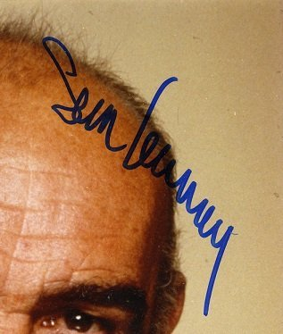 Sean Connery photo autographed