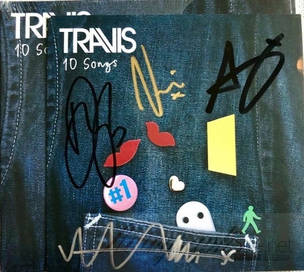 Travis signed CD 10 Songs insert Fran Healy