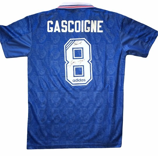 Paul gazza Gascoigne signed Rangers Football Club shirt