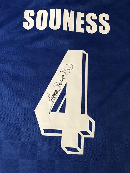 Graeme Souness signed Rangers FC football shirt