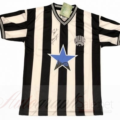 Paul Gascoigne Newcastle Signed football shirt Scoredraw Retro