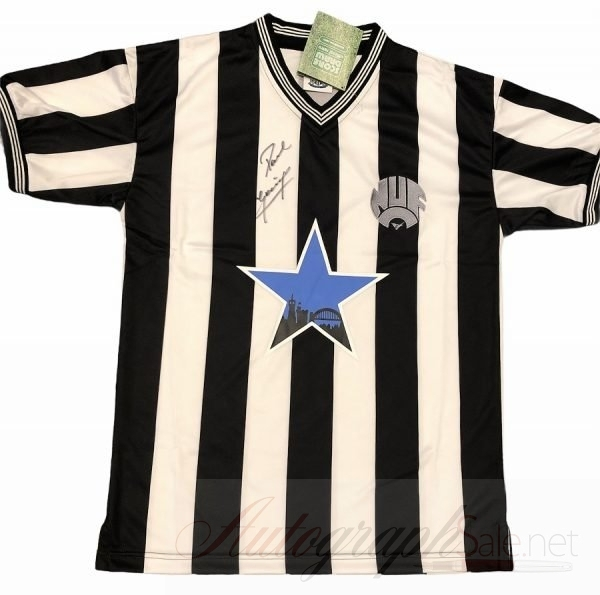 Paul Gascoigne Newcastle Signed football shirt Scoredraw Retro