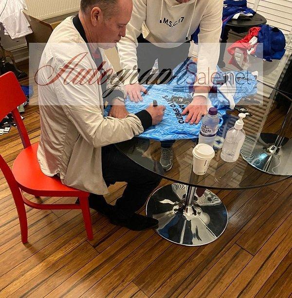 Paul Gascoigne Signed Lazio Football shirt Gazza Autograph