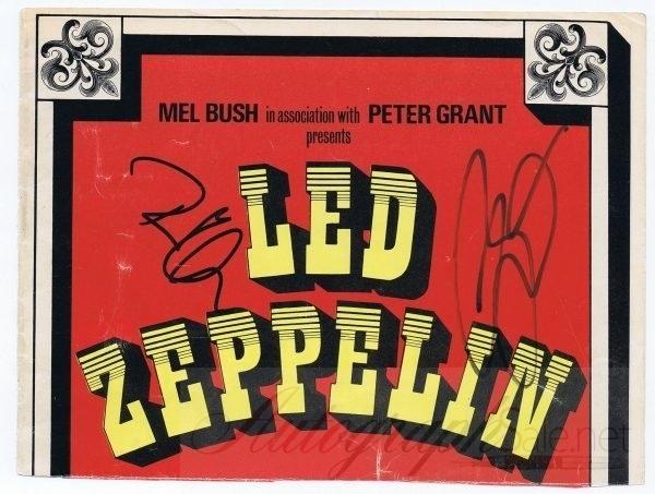 Led Zeppelin signed Tour program 1975 Robert Plant and Jason Bonham