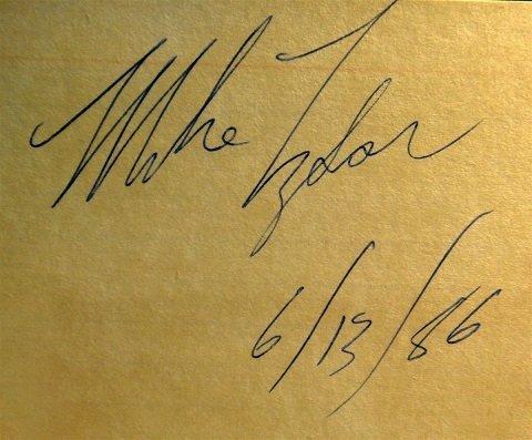 1986 Mike Tyson signed autograph