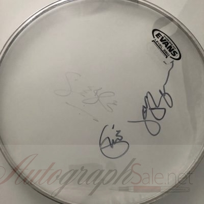 Cream Authentic Autographs | Signed drumhead Eric Clapton Ginger Baker Jack Bruce