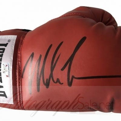 Mike Tyson signed Everlast Boxing Glove The Baddest Man on the Planet