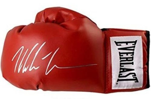Mike Tyson signed boxing glove memorabilia