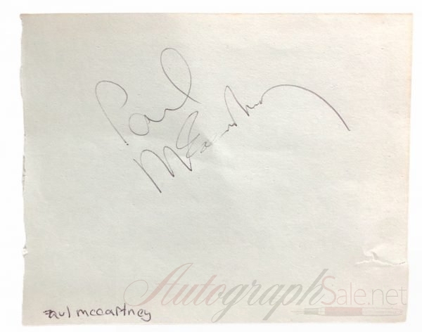 Paul McCartney signed autograph The Beatles 60s