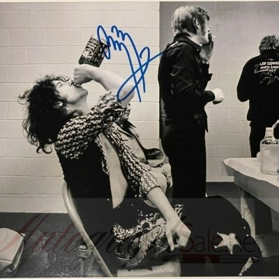 Jimmy Page signed photo Led Zeppelin memorabilia 12×8″