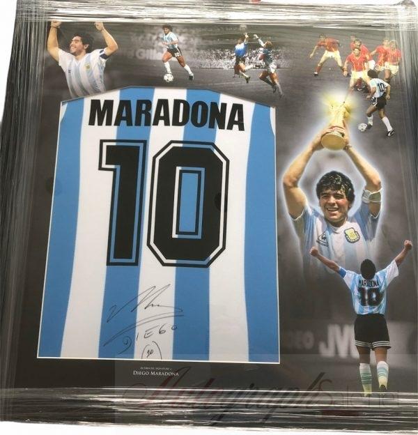 Diego Maradona signed Argentina football shirt #10