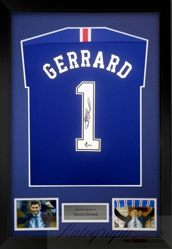 Steven Gerrard Autograph Castore Rangers FC Football Shirt signed