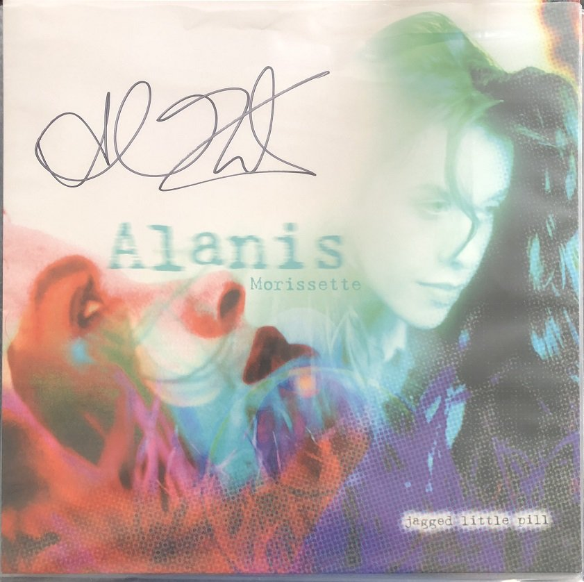 alanis morissette autographs jagged little pill