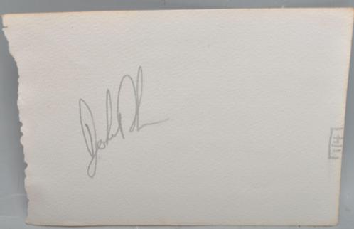 John Bonham Autographed album page Led Zeppelin drummer