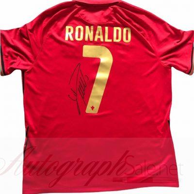 Cristiano Ronaldo Autographed Portugal FC Football shirt