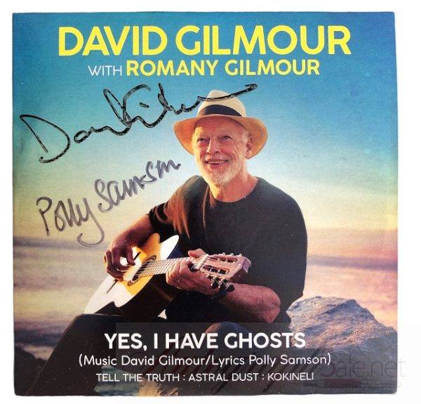 David Gilmour Polly Samson Autographed CD Yes I have Ghosts