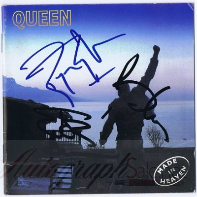 Queen Made In Heaven autographs CD Cover signed Brian, Roger and John